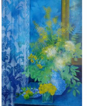 mimosas sur fond bleu sur le site d'ARTactif