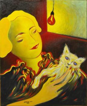 La dame au chat sur le site d'ARTactif