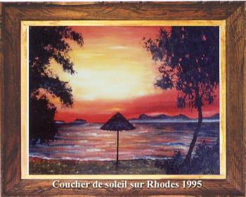 Coucher de soleil sur Rhodes 1995 sur le site d'ARTactif