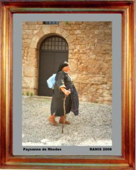 Grèce; Paysanne de Rhodes 2006 sur le site d'ARTactif