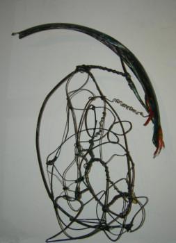 sculpture calligraphique ornithologique sur le site d'ARTactif
