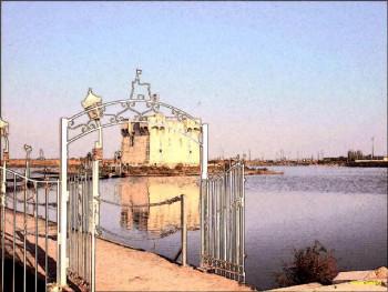 La passerelle du château sur le site d'ARTactif