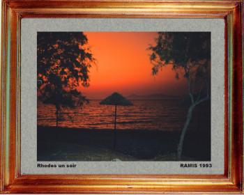 Grèce; Rhodes un soir 1993 sur le site d'ARTactif