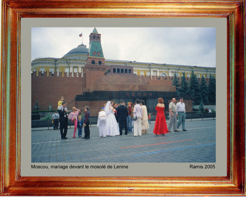Russie, mariage devant le mausolé de Lénine 2005 sur le site d'ARTactif