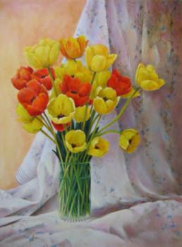 Tulipes sur drapé sur le site d'ARTactif