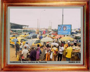 Cameroun, gare routiere de Yaoundé 2010 sur le site d'ARTactif