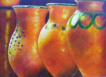 enfilade de jarres sur le site d'ARTactif